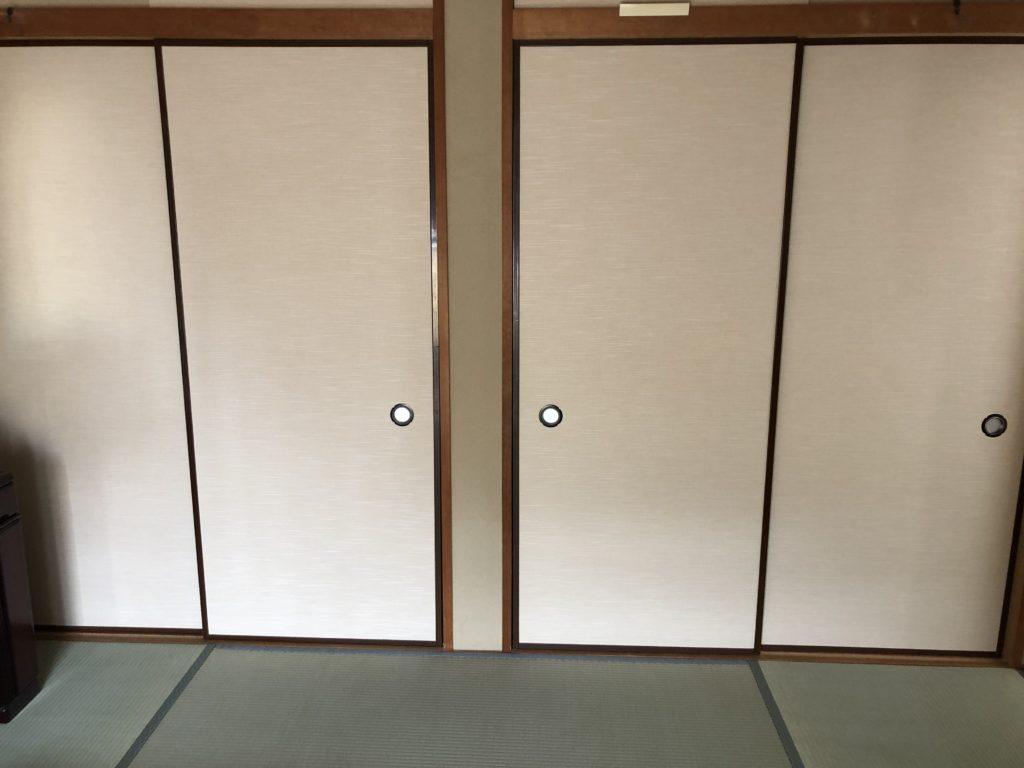 埼玉県久喜市南栗橋にてふすま張替と畳表替え画像