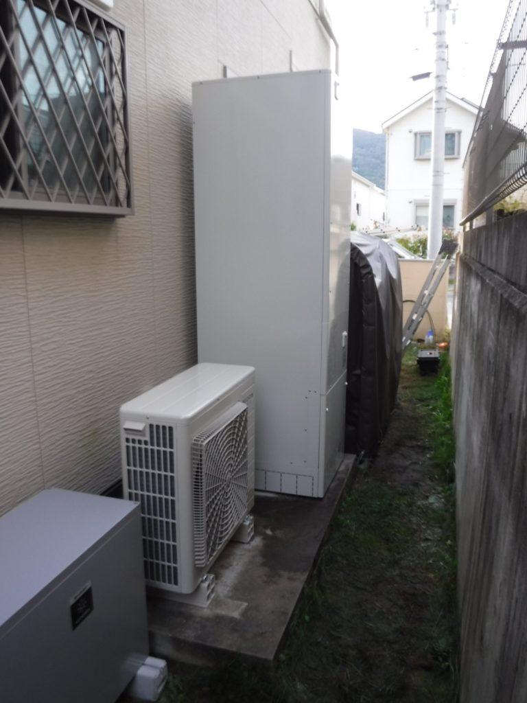 埼玉県久喜市にてエコキュート故障による交換設置工事画像