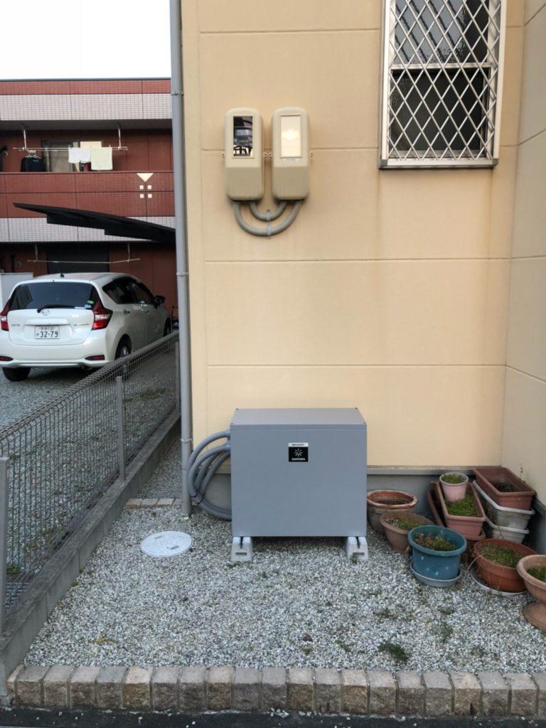 埼玉県久喜市にて蓄電池設置工事画像
