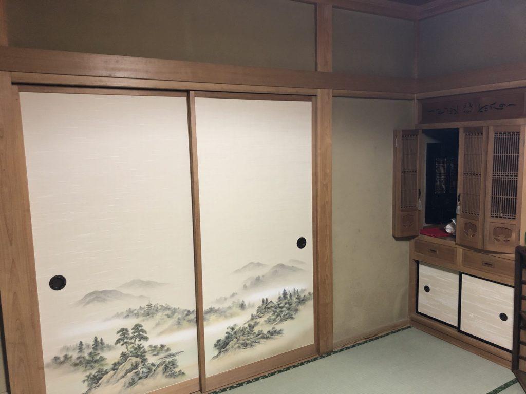 埼玉県久喜市にて純和風のお宅でのふすま張替 その1画像