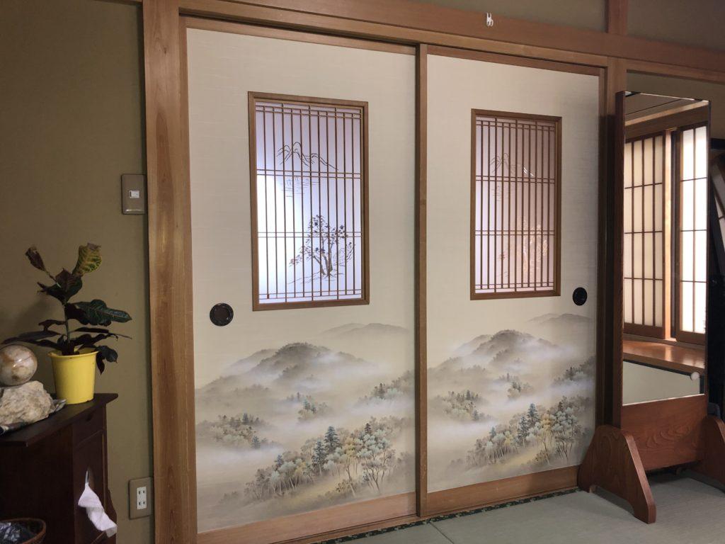 埼玉県久喜市にて純和風のお宅でのふすま張替 その2画像