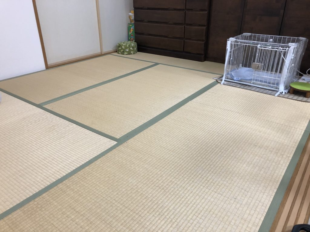 埼玉県久喜市にて耐久性のある和紙表でのたたみ張替(表替え)画像